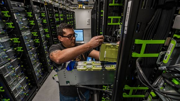 Facebook's newest data center in Los Lunas, New Mexico
